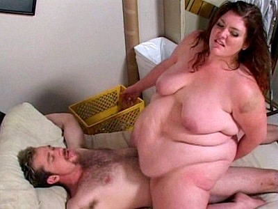 Supersized bbw Bridget loves sex and here she got loads of it by seducing this horny chubby chaser by showing off her big flabby belly and enormous butt Soon the guy gave in and let her have it by taking it deep into her slit by humping on top of it