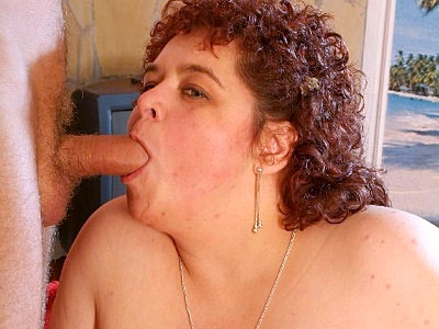 Mature bbw Gaborne comes off a bit shy at first, but soon as these two guys started showing off their meat she just went all out and satisfied these guys in this awesome threesome fuck. She started off by slurping their rods and let them have a go at her fat snatch.