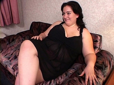 Huge BBW striptease